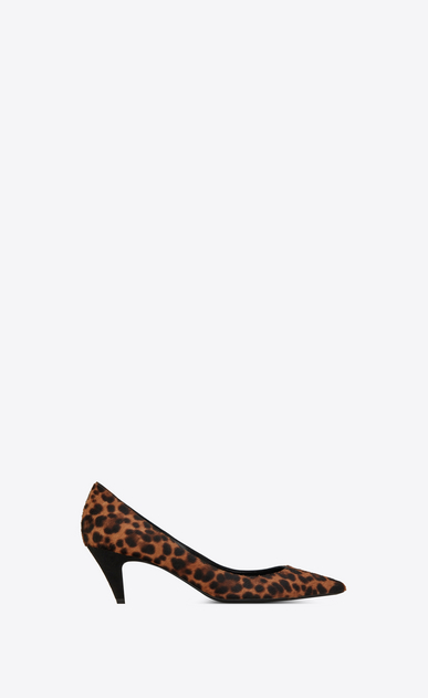 SAINT LAURENT Charlotte pump Woman Charlotte 55 pump in leopard-look calfskin a_V4