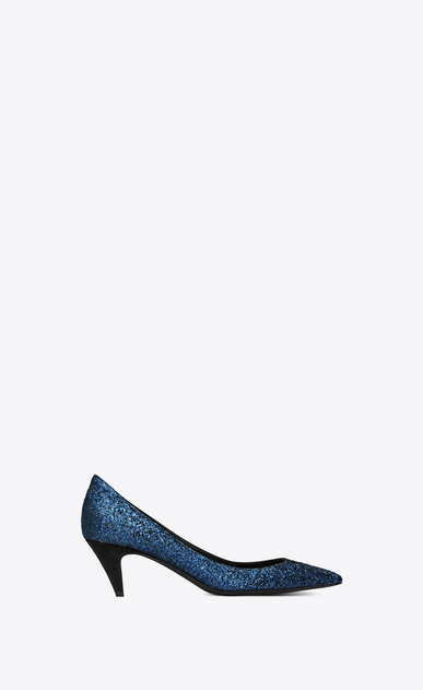 SAINT LAURENT Charlotte pump Woman Charlotte 55 pump in midnight blue glitter a_V4