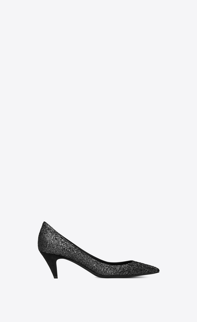 SAINT LAURENT Charlotte pump Woman Charlotte 55 pump in black glitter a_V4