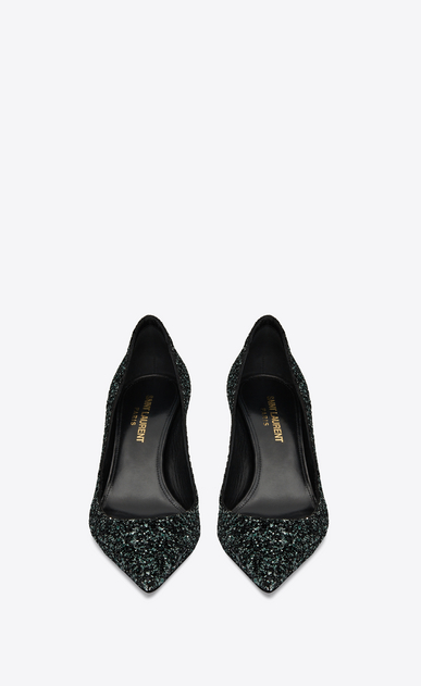 SAINT LAURENT Charlotte pump Woman Charlotte 55 pump in green glitter b_V4