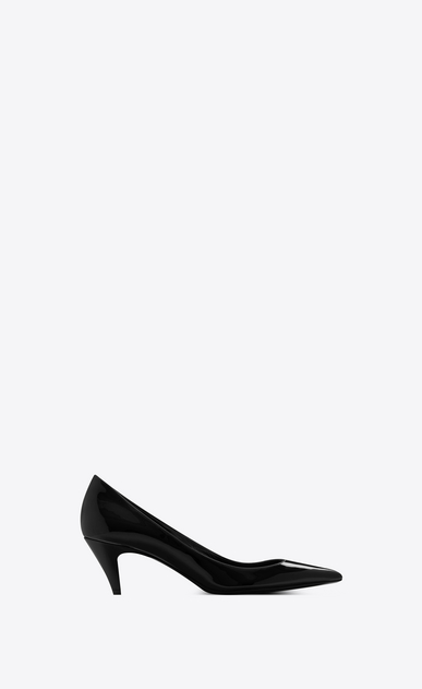 SAINT LAURENT Charlotte pump Woman Charlotte 55 pump in black patent leather a_V4
