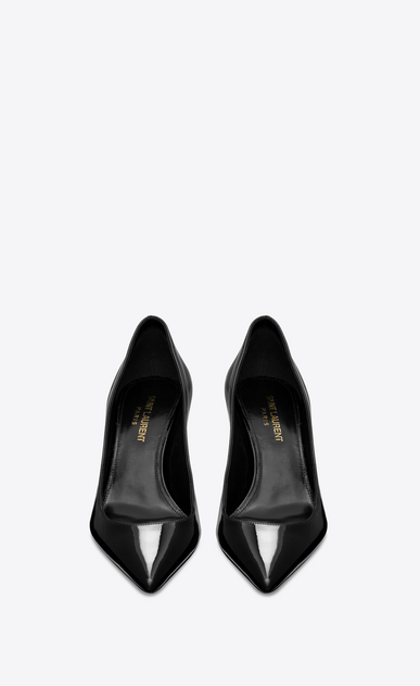 SAINT LAURENT Charlotte pump Damen Charlotte 55 Pumps aus schwarzem Lackleder b_V4