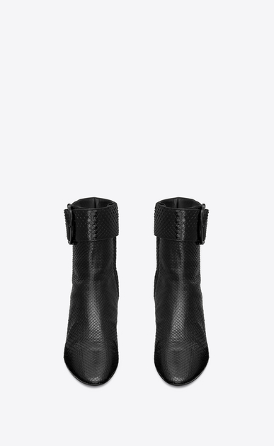 SAINT LAURENT Heel Booties Woman Joplin ankle boot in python b_V4