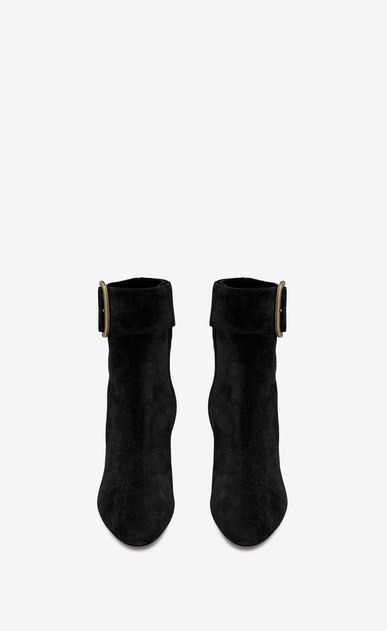 SAINT LAURENT Heel Booties Woman joplin buckle bootie in suede b_V4
