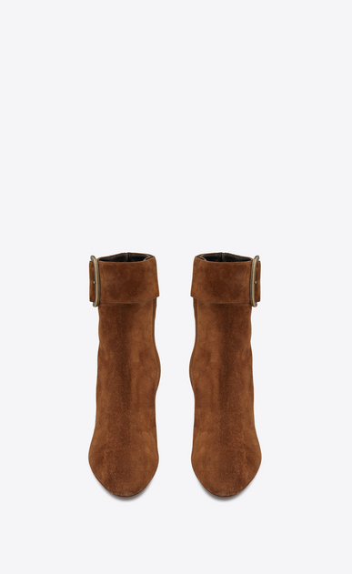 SAINT LAURENT Heel Booties Woman Joplin 50 ankle boot in caramel suede b_V4