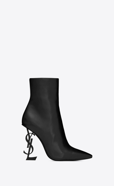 SAINT LAURENT YSL heels Woman Opyum 110 ankle boot in black leather a_V4