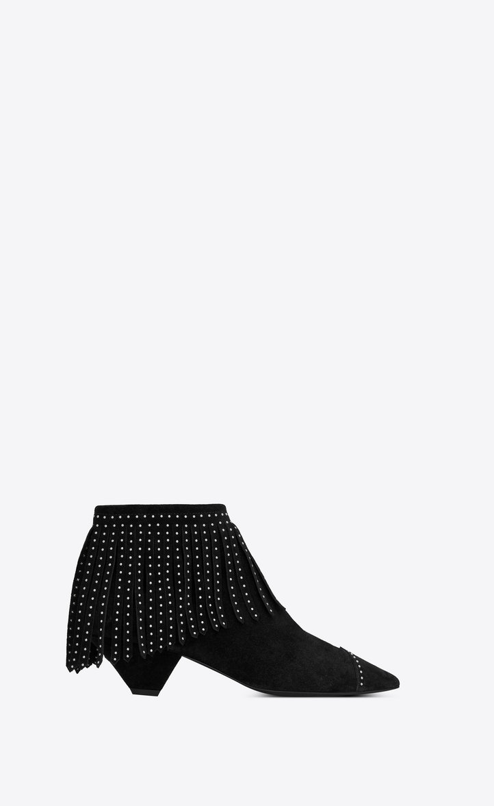 Blaze Laced Ankle Boot In Suede, Black
