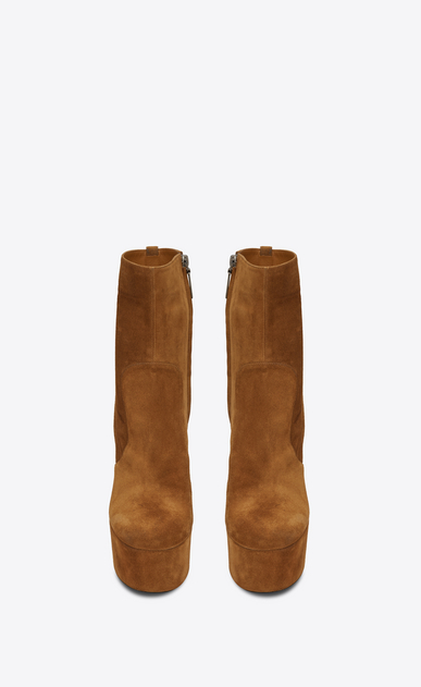 SAINT LAURENT Heel Booties Woman Billy platform bootie in suede b_V4