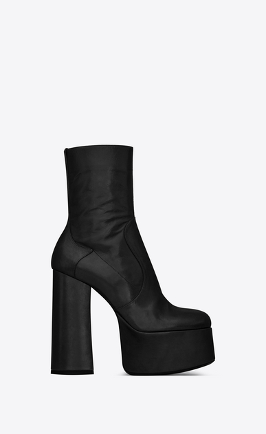 SAINT LAURENT Heeled Boots Woman Billy platform bootie in leather a_V4