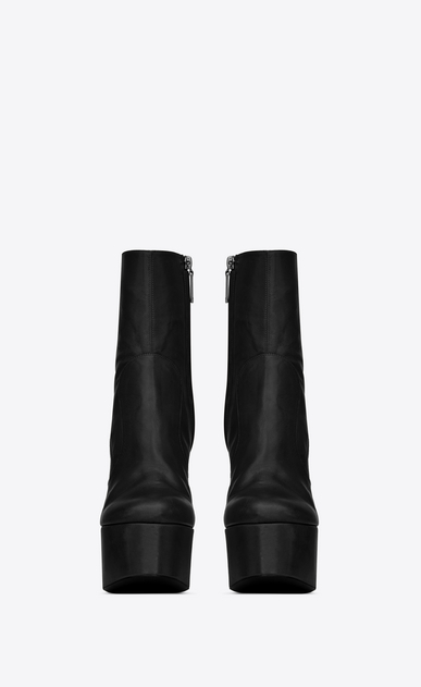 SAINT LAURENT Heeled Boots Woman Billy platform bootie in leather b_V4