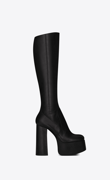 SAINT LAURENT Heeled Boots Woman Billy 85 boot in black leather a_V4