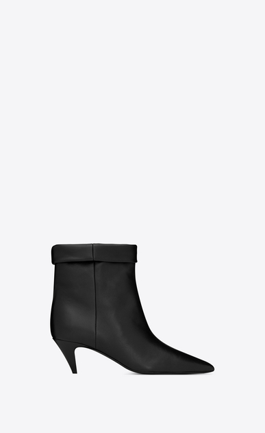 SAINT LAURENT Heel Booties Woman Charlotte 55 ankle boot in black leather a_V4