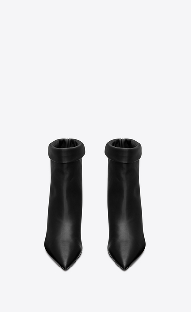 SAINT LAURENT Heel Booties Woman Charlotte 55 ankle boot in black leather b_V4