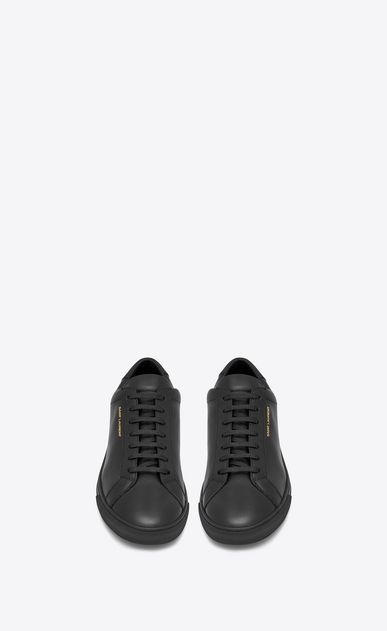 SAINT LAURENT Sneakers Damen Andy Sneakers aus schwarzem Leder b_V4