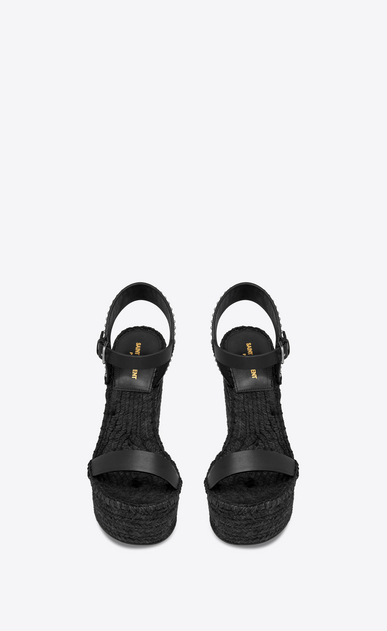 SAINT LAURENT Espadrille Woman Espadrille 85 studded sandal in black leather b_V4