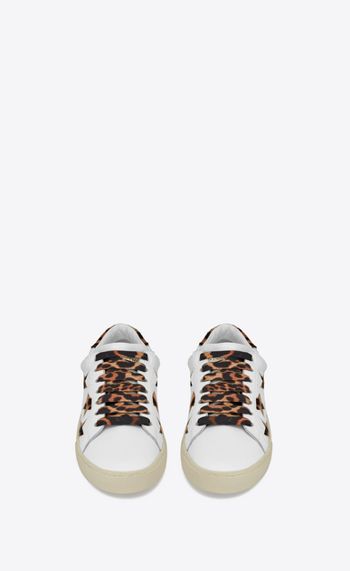 SAINT LAURENT SL/06 Woman Court Classic SL/06 leopard california sneaker in leather b_V4