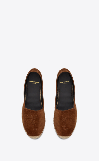 SAINT LAURENT Espadrille Woman Monogram espadrille sandal in caramel leather b_V4