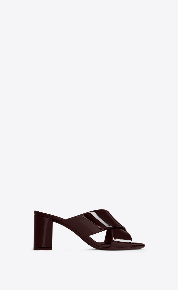 LOULOU MULE IN PATENT LEATHER