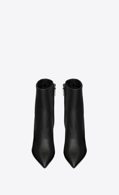 SAINT LAURENT YSL ABSATZ Damen Opyum 85 Stiefelette aus schwarzem Leder b_V4