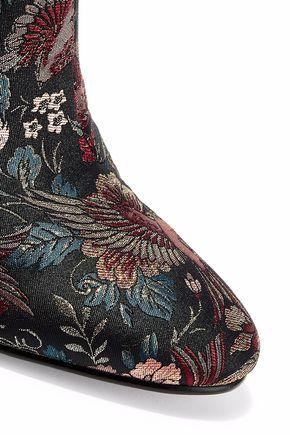 SAM EDELMAN Taye metallic jacquard ankle boots