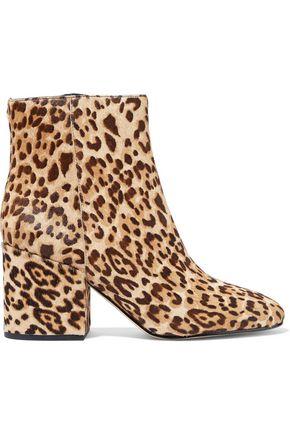 SAM EDELMAN Taye leopard-print calf-hair ankle boots