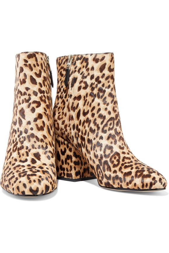 6d6cd92b2a6 Taye leopard-print calf hair ankle boots