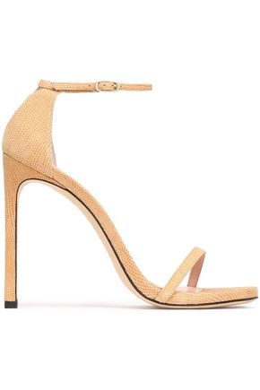 STUART WEITZMAN Nudist textured-leather sandals
