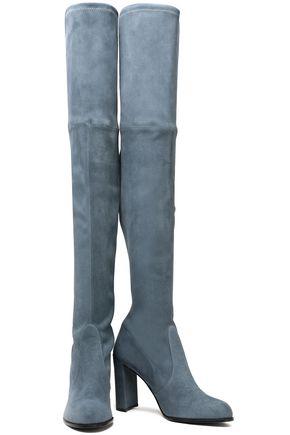 STUART WEITZMAN Suede over-the-knee boots
