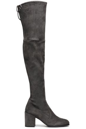 STUART WEITZMAN Suede over-the-knee boots