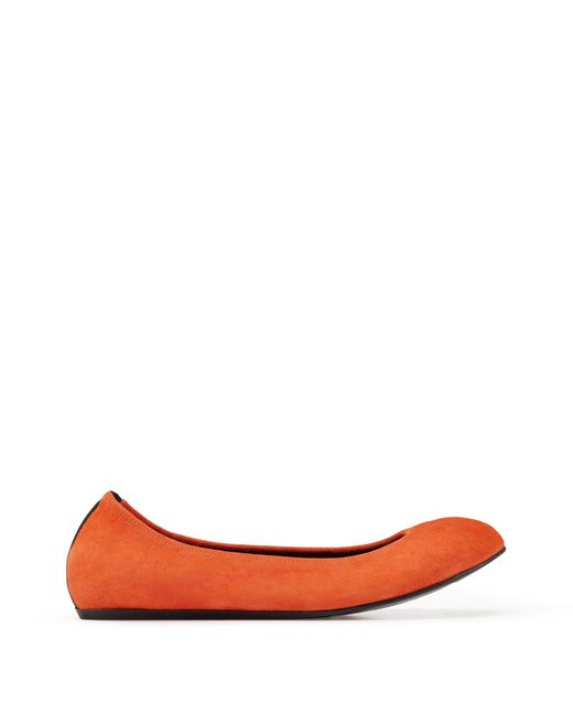 CLASSIC BRIGHT ORANGE BALLET FLAT - Lanvin