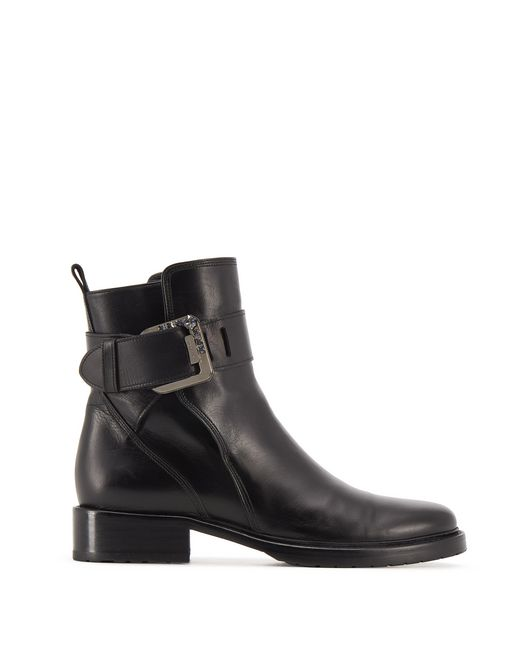 BLACK BUCKLED ANKLE BOOT - Lanvin