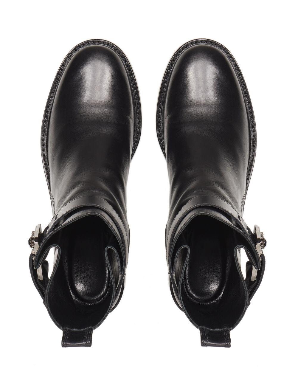 BLACK BUCKLED ANKLE BOOT - Lanvin