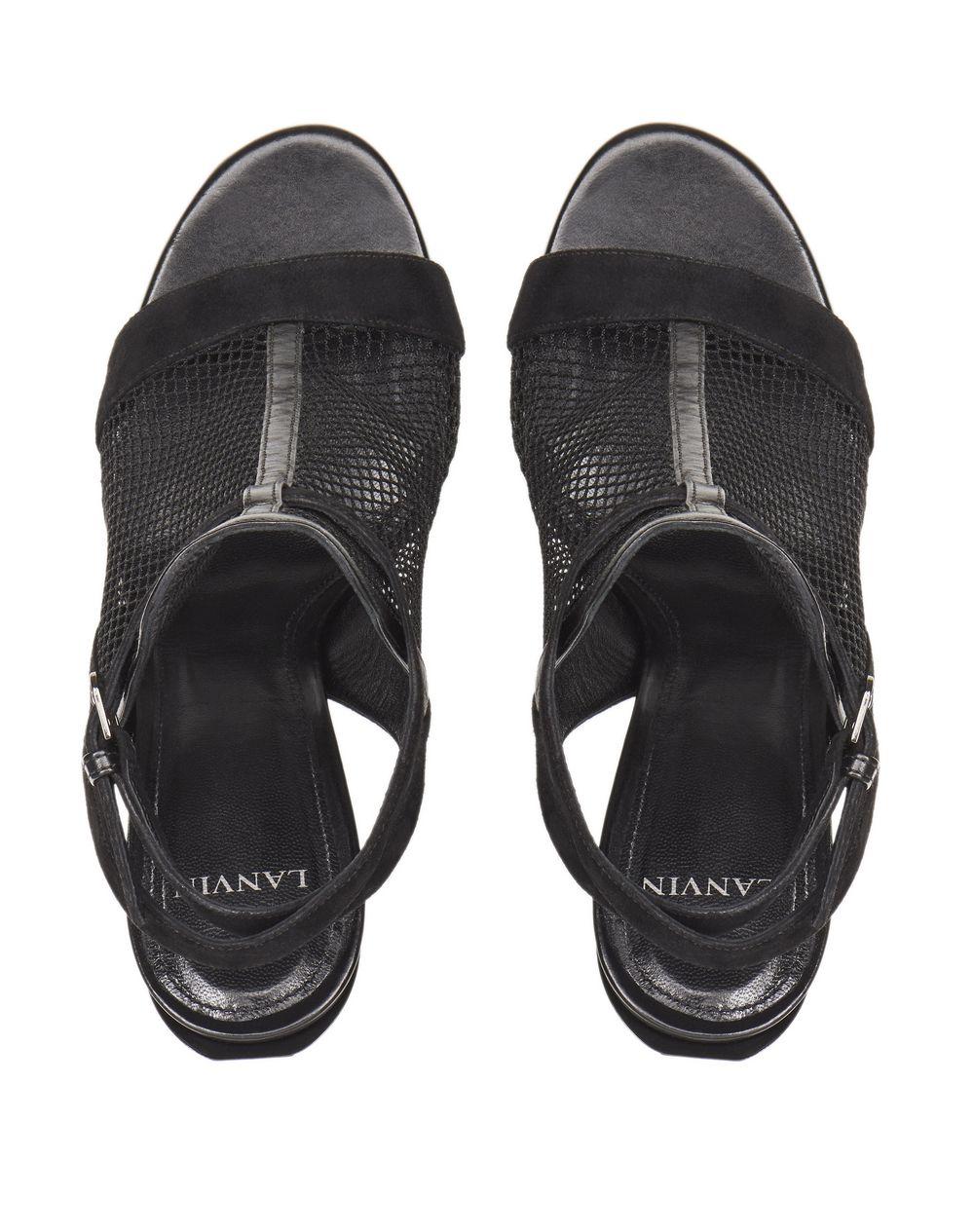 BLACK MESH SANDAL - Lanvin
