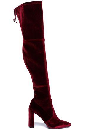 STUART WEITZMAN Velvet thigh boots