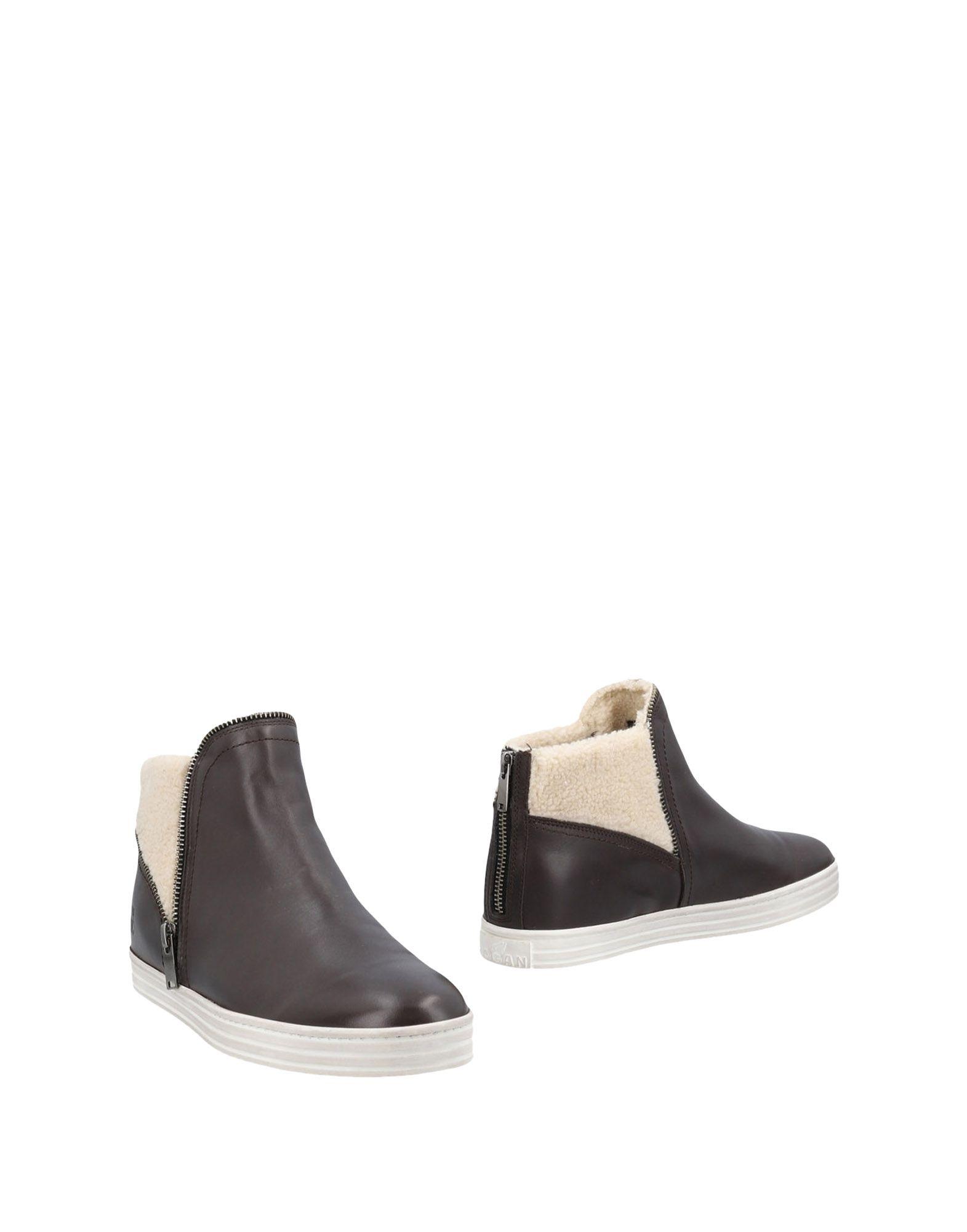 HOGAN REBEL Ankle Boot in Dark Brown