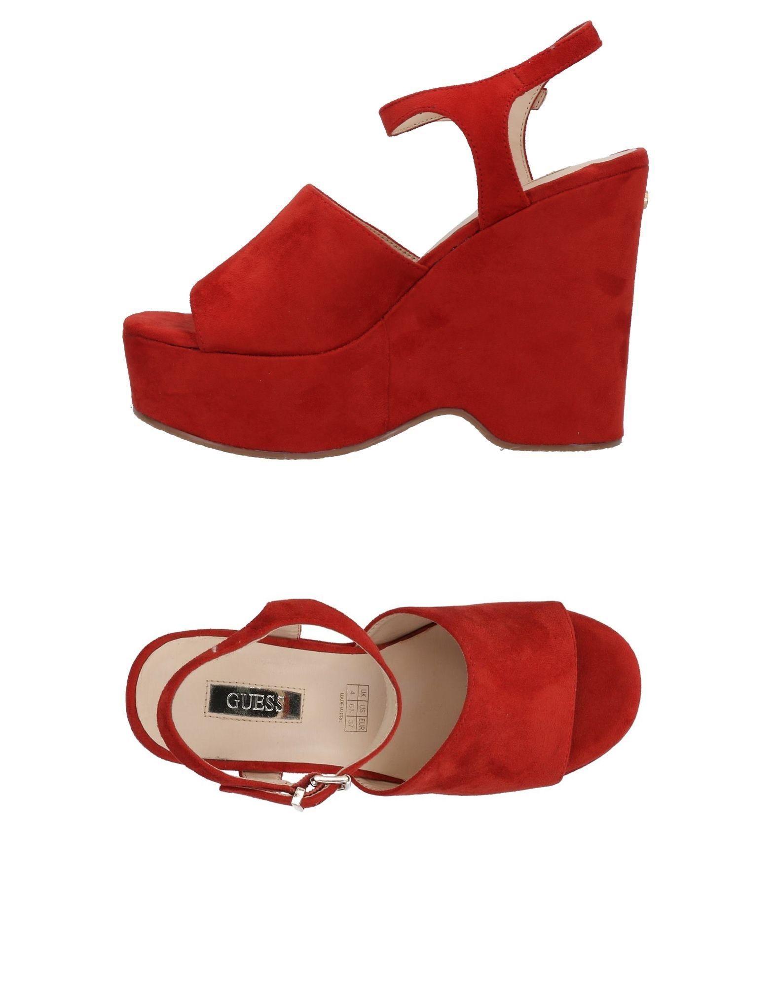 GUESS Damen Sandale11 rot