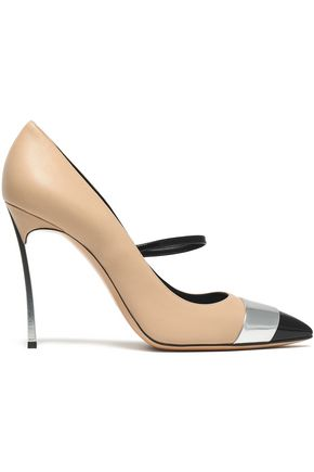 CASADEI Blade matte, mirrored and patent-leather pumps