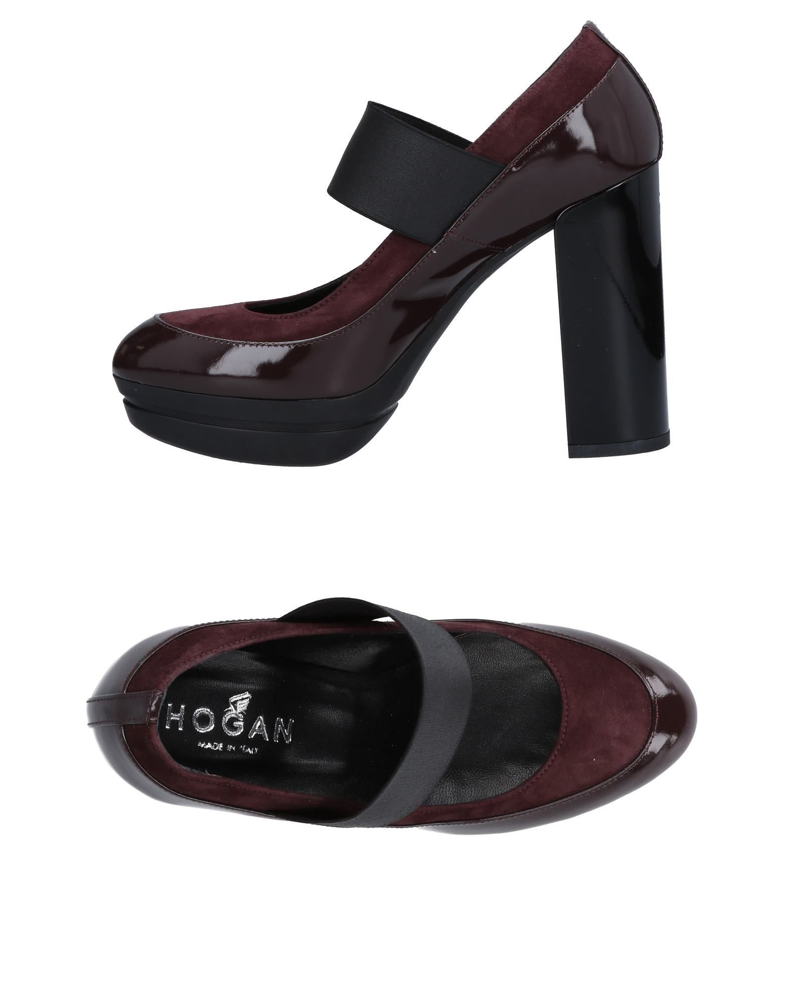 HOGAN Pumps. varnished effect, no appliqués, solid color, elasticized gores, round toeline, square heel, leather lining, rubber sole, contains non-textile parts of animal origin. Soft Leather