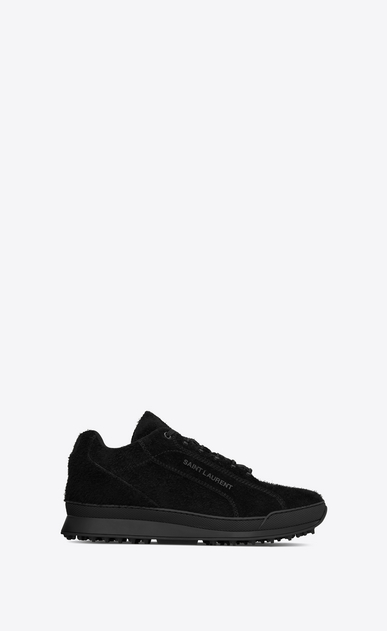 SAINT LAURENT Low Sneakers メンズ Jump sneaker in black suede a_V4