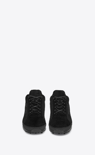 SAINT LAURENT Low Sneakers Man Jump sneaker in black suede b_V4