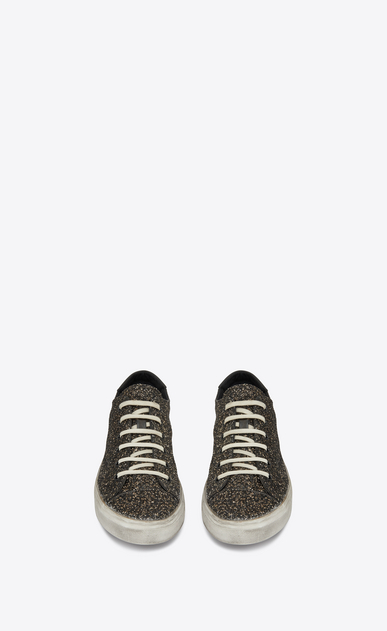 SAINT LAURENT Bedford Man men - Bedford sneaker in leather and glitter b_V4