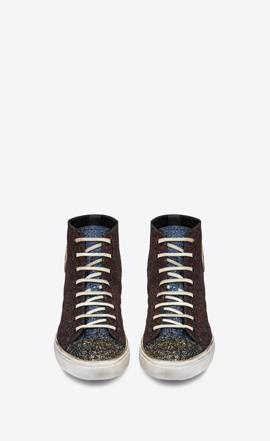 SAINT LAURENT Bedford メンズ Bedford mid-top sneaker in multicolored glitter b_V4