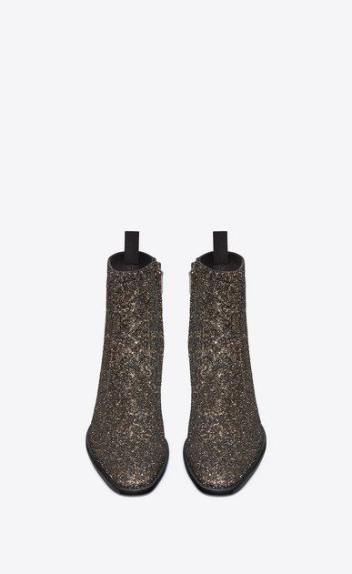 SAINT LAURENT Boots Man Wyatt 40 zippered boot in gold glitter b_V4