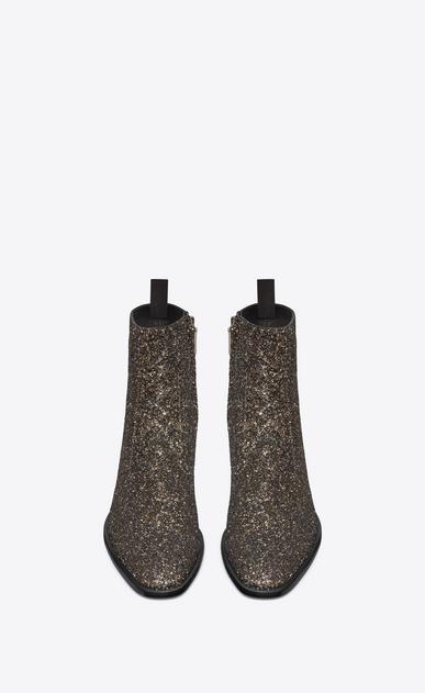 SAINT LAURENT Boots Man Wyatt zippered boot in glitter b_V4