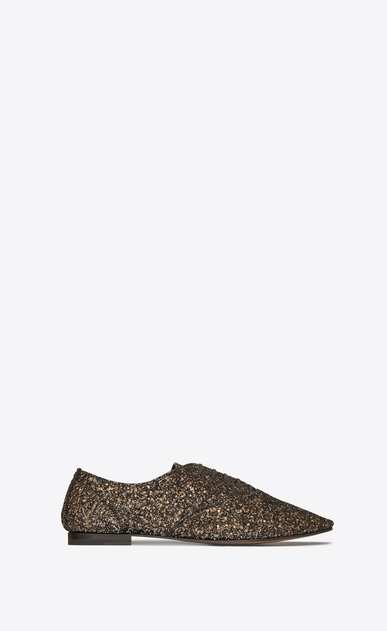SAINT LAURENT Classic Shoes Man Rive Gauche 15 brogue in gold glitter a_V4