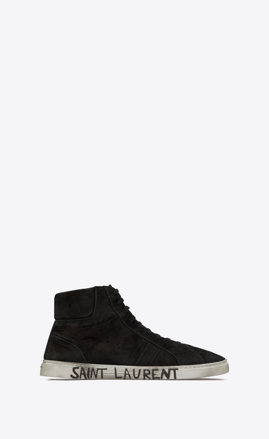 SAINT LAURENT High top sneakers Man Joe sneaker in suede a_V4