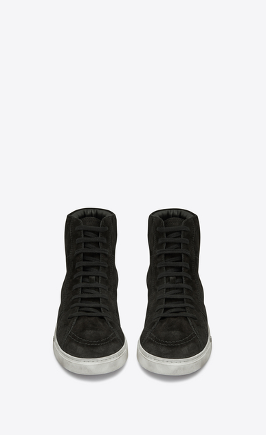 SAINT LAURENT High top sneakers Man Joe sneaker in suede b_V4