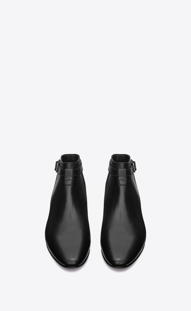 SAINT LAURENT Boots Man Connor 10 jodhpur boot in black leather b_V4