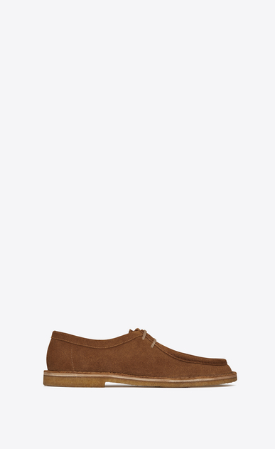 SAINT LAURENT Classic Shoes Man Nino 10 derby in hazel suede a_V4