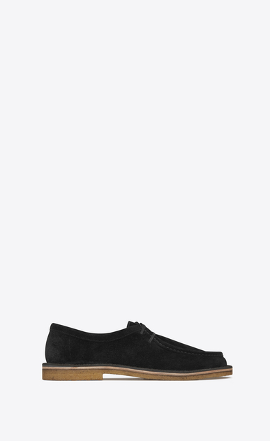 SAINT LAURENT Classic Shoes Man Nino 10 derby in black suede a_V4